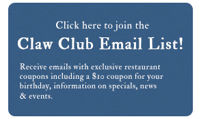 Click here to join the Claw Club Email List!