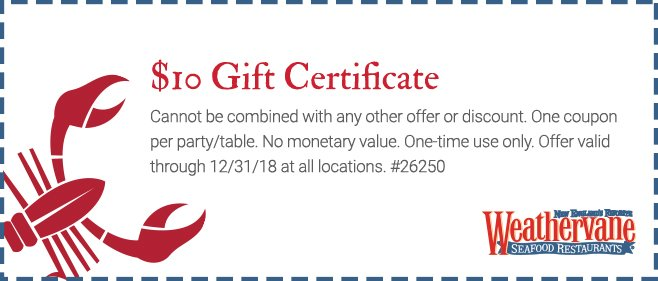 -10 Off Gift Certificate